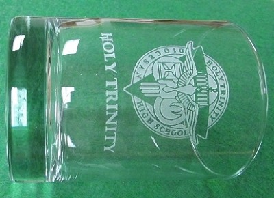 HT Etched Old Fashioned Glass 12 oz