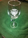 HT Etched Wine Glass  16 oz